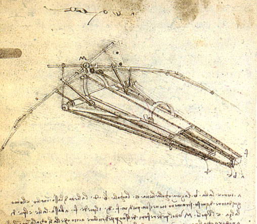flying machine - by leonardo da vinci