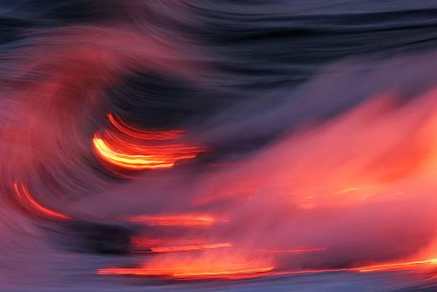 11 Hot Pics And Videos Of Lava Vs Ocean