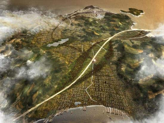OnJin-gun island will be transformed as a sustainable resort and the masterplan will eventually connect South to North Korea and the airport via the world's longest bridge.