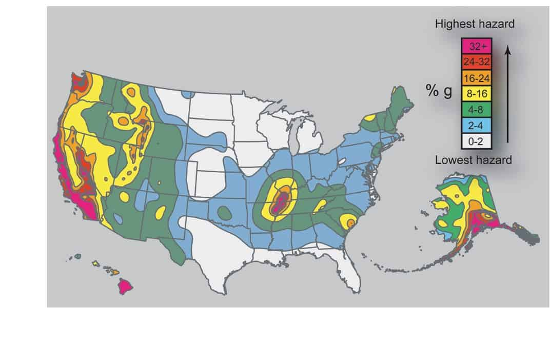 Large Earthquakes Dont Trigger Others Far Away - Seismic map of us