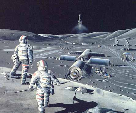 An artist impression of what a lunar base might look like. (c) Ars Nova Blog