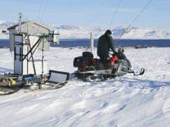 An international research team is exploring the Arctic in search of soot. Carbon deposited there as a result of activities elsewhere can have a long-term impact on climate.  (Associated Press)