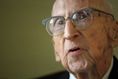 114 year old Walter Breuning, the oldest attest individual to have lived. Breuning died Thursday, April 14, 2011 of natural causes in a Great Falls hospital.