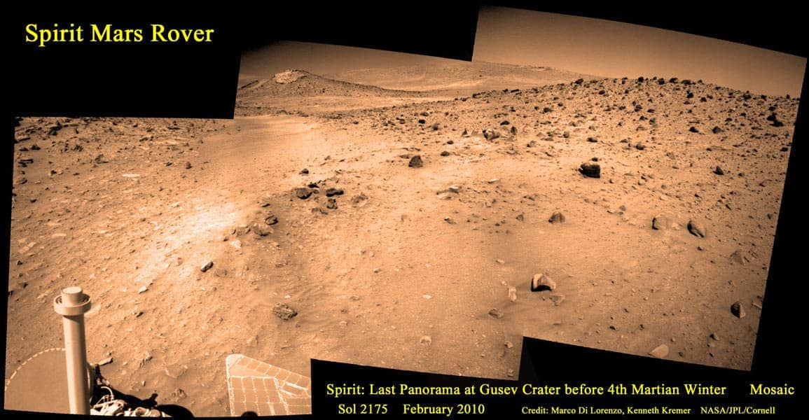 Mars Spirit Rover last transmitted image