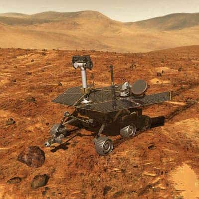 The Mars Spirit Rover. (c) NASA