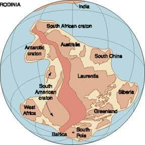 "The oldest known supercontinent was called ""Rodinia"" and formed some 1.1 billion years ago, when there also was only one superocean, which was called the ""Panthalassic Ocean"" (or ""Panthalassa"") and eventually became the present-day Pacific Ocean. (c) NASA"