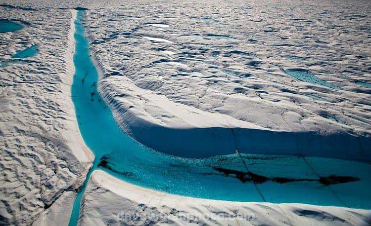 Geopicture Of The Week The Blue River In Greenland