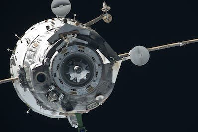 Photo of a Soyuz spacecraft in orbit. Credit: NASA
