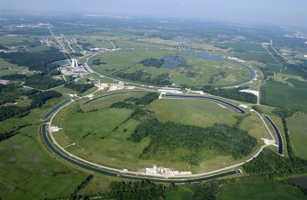 Fermilab aerial view. (C) Fermilab