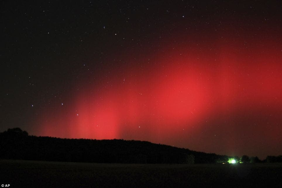 Ozark, Arkansas Nothern Lights. (c) Brian Emfinger