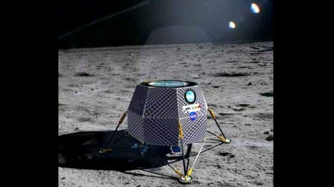 Moon Express' lunar lander, depicted here as an artist's impression. (c) Moon Express inc.