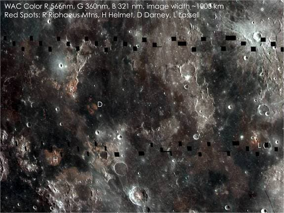 LROC WAC mosaic showing boundary between Mare Serenitatis and Mare Tranquillitatis. (c) NASA/GSFC/Arizona State University