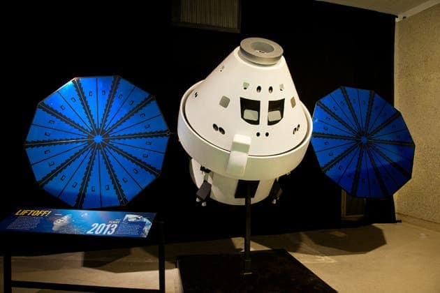 A future space capsule, currently developed by Lockheed Martin for NASA, which might be used to carry astronauts to the International Space Station, the moon or even distant asteroids. (c) AMNH\D. Finnin