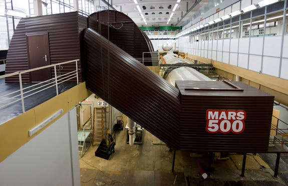 An exterior view of isolation facility at the Russian Institute of Biomedical Problems in Moscow, Russia, which hosts the Mars500 project. (c) ESA