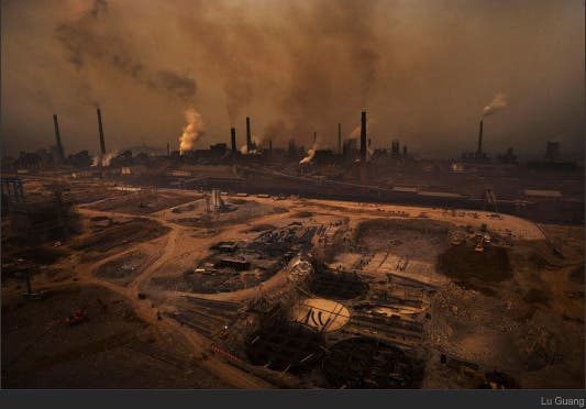 Tianjin Steel Plan in Hebei Province, China. (c) Lu Guang