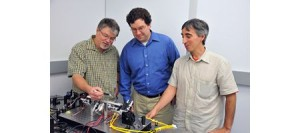 ser experts (from left to right) Barry Coyle, Paul Stysley, and Demetrios Poulios have won NASA funding to study advanced technologies for collecting extraterrestrial particle samples. (c) NASA