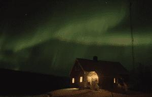 Aurora Borealis real time footage
