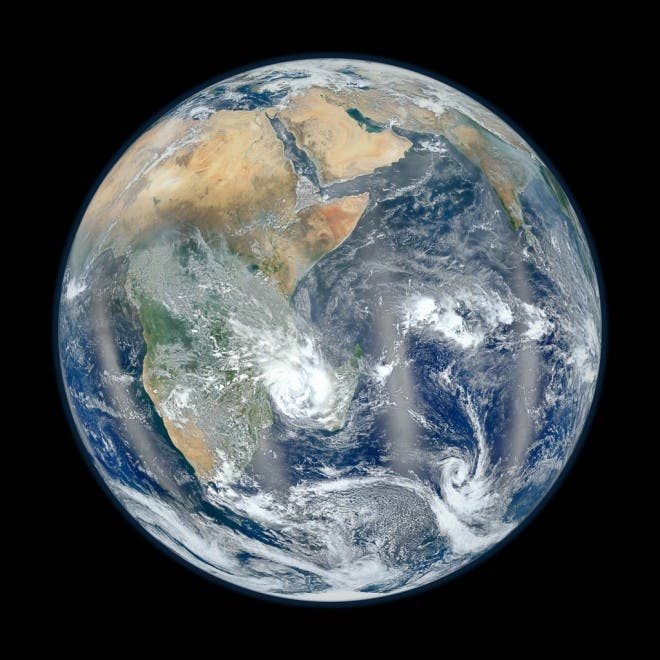 Blue Marble Earth The Other side