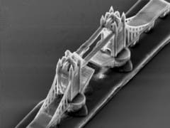 The London Tower Bridge - distance between towers 90 µm. (c) TU University