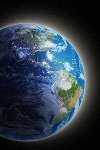 The great blue marble. Does is it have a sister planet? A question astronomers seek to answer.