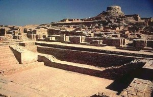 Ancient Harappan excavated ruins