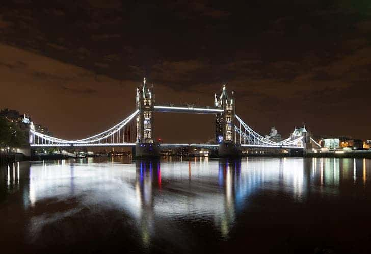 London Tower Bridge GE lighting