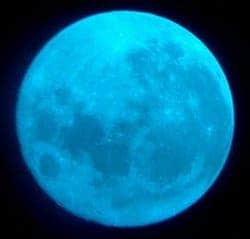 The moon wasn't actually blue in this photo, as the photographer used a blue filter for his camera. (c) Kostian Iftica