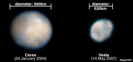 asteroid ceres and cesta