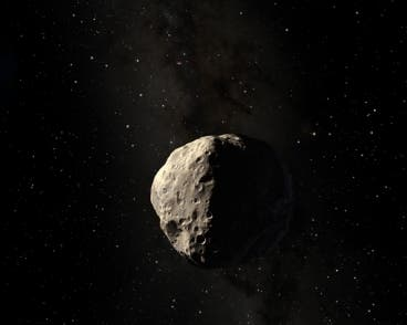 Artist impression of the Apophis asteroid.