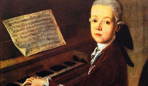Wolfgang Amadeus Mozart, the most famous child prodigy. At the age of three, Wolfgang Mozart played the harpsichord and by six, he had written his first musical composition. This was followed by the first symphony at the age of eight and opera at 12.