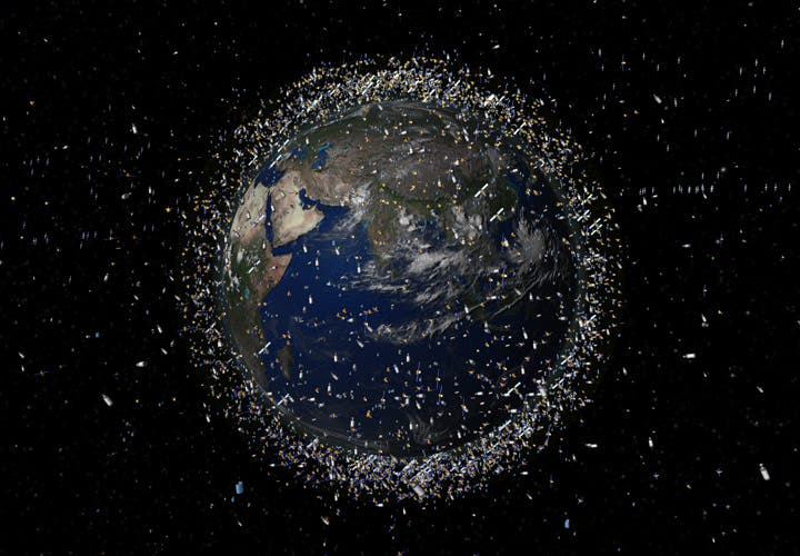 "Thousands of pieces of ""space junk"" orbit our planet. (c) ESA"