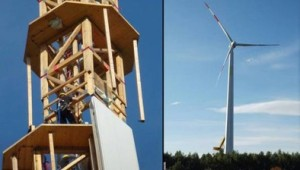 timbertower wooden wind turbine