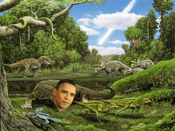 Meet Obamadon The Lizard That Lived With The Dinosaurs