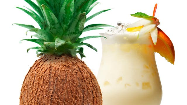 Pina colada pineapple coconut flavored