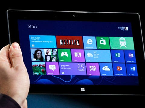 Windows 8 on tablet