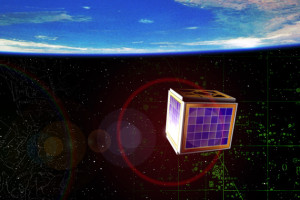 A CubeSat illustration - a miniaturized satellite designed to help universities worldwide to perform space science and exploration. (c) Aalborg University