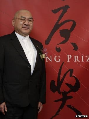Taiwanese businessman Samuel Yin at the Tan prize announcement press conference. (c) Reuters