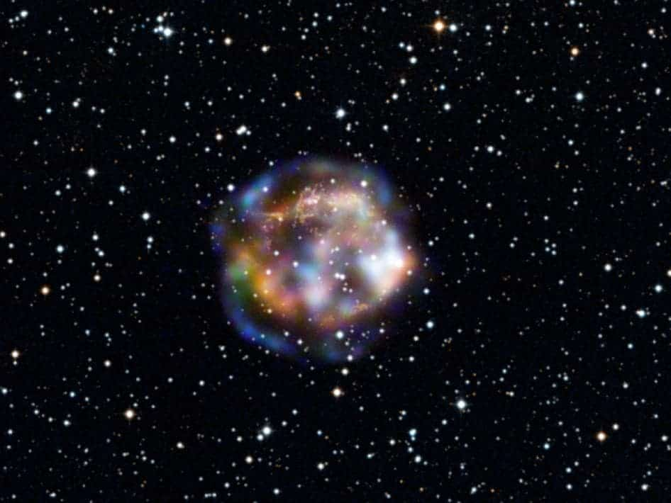Light from the stellar explosion that created Cassiopeia A is thought to have reached Earth about 300 years ago, after traveling 11,000 years to get here. While the star is long dead, its remains are still bursting with action. (c) NASA