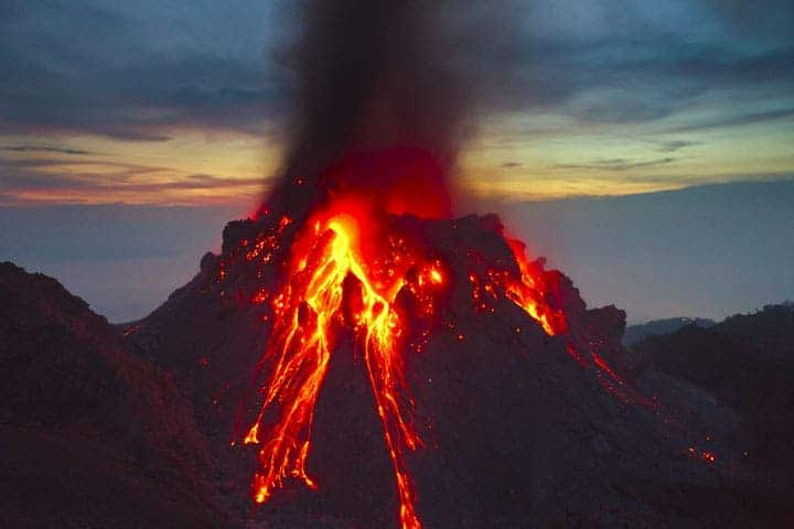 The Paluweh volcano; copyright Tom Pfeiffer.