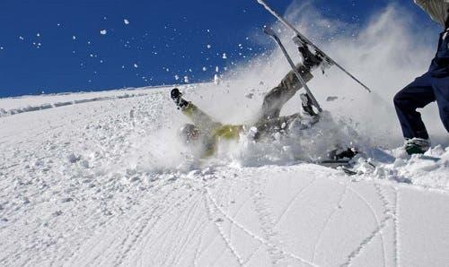 ski crash