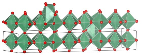 Illustration of form of nobium oxide synthesized by UCLA researchers (UCLA/Nature Materials)