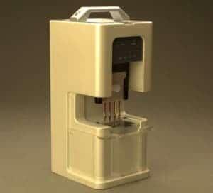 Hand-held device for extracting DNA. (c) UW/NanoFacture/KNR