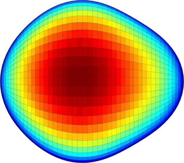 An international team of researchers has found direct evidence of pear-shaped nuclei in atoms. (c)  Liam Gaffney and Peter Butler, University of Liverpool)