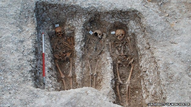 The medieval remains were taken from graves in the UK, Denmark and Sweden
