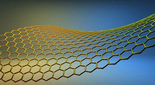 Artistic representation of graphene. Source.