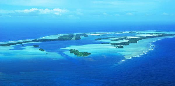 Palmyra Atoll is one of the most remote sites in the United States and serves as an excellent example of how less-disturbed reef ecosystems function. Palmyra was directly purchased to conserve the biodiversity that it harbors. Courtesy of Kydd Pollock