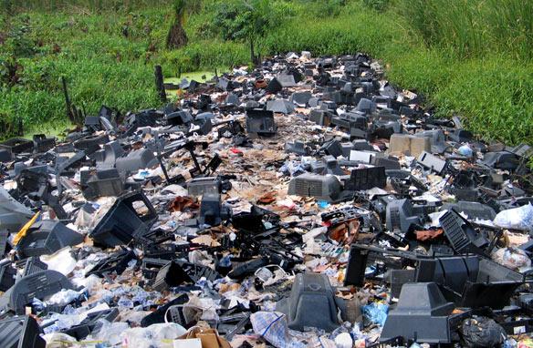 An e-waste dump in Nigeria.