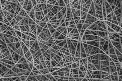Microfibers were produced using 10 percent by weight solutions of the polymer. (c) Mohammad Reza Abidian