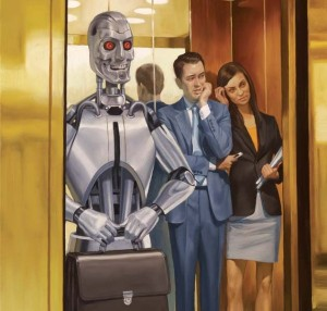 Are you ready to greet our new office robot overlords? (C) MotherJonas