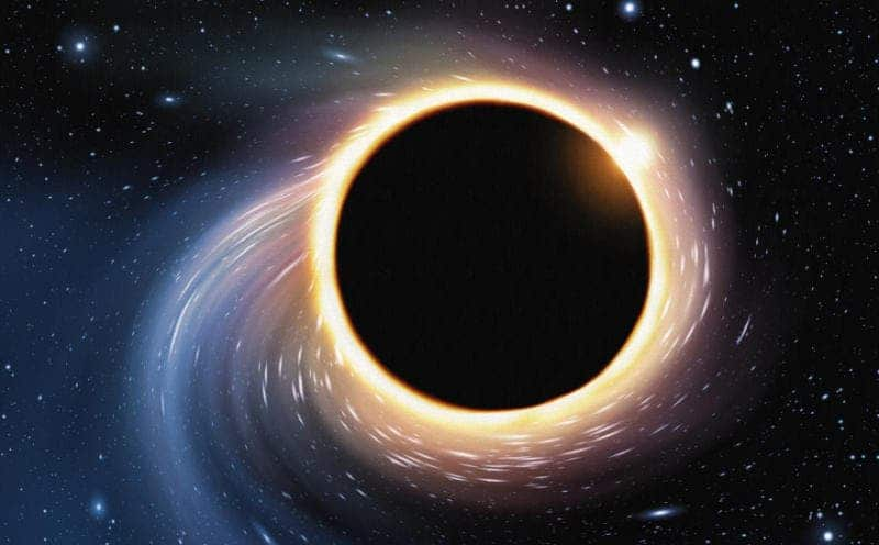Artist's illustration of a black hole. (Credit: iStockphoto)